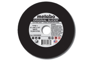 "Metabo Original Slicer 6""x.040""x7/8"" Cut-Off Wheel Type 1 A60TZ-ShopWeldingSupplies.com"