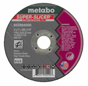 "Metabo Super Slicer 6""x.045""x7/8"" Cut-Off Wheel Type 1 A60XP-ShopWeldingSupplies.com"