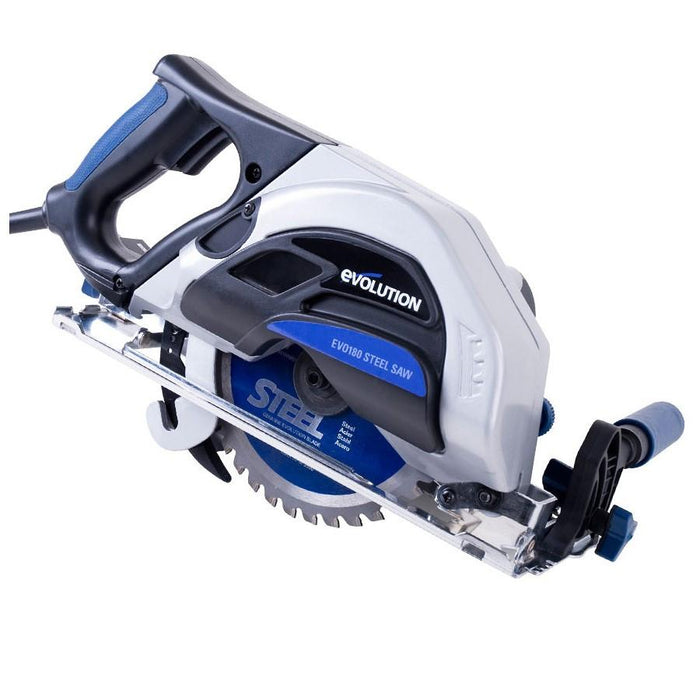 Evolution (EVOSAW180HD) 7-1/4″ TCT Industrial Steel Cutting Circular Saw (Limited Time - Extra Steel Blade Free!)