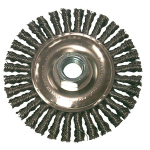 "Anchor 4"" Carbon Steel Wire Knot Wheel Brush - 4S58-ShopWeldingSupplies.com"