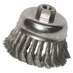 "Anchor 6"" Carbon Steel Wire Knot Cup Brush - 102-6KC58-ShopWeldingSupplies.com"