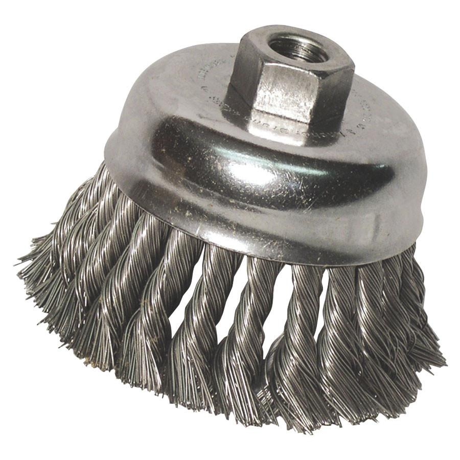 "Anchor 102-R3KC58 3"" Carbon Steel Wire Knot Cup Brush (1 brush)-ShopWeldingSupplies.com"