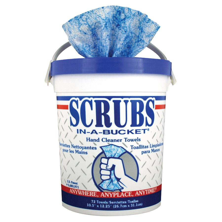 Scrubs-In-A-Bucket Hand Cleaning Towels/Wipes (1 Pack of 6 Buckets)-ShopWeldingSupplies.com