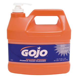 GOJO Natural Orange Pumice Hand Cleaner - Pump Style (1 Case of 4 Bottles)-ShopWeldingSupplies.com