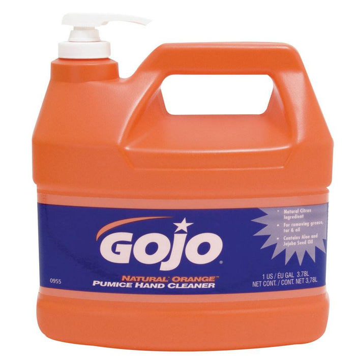 GOJO Natural Orange Pumice Hand Cleaner - Pump Style (1 Case of 4 Bottles)