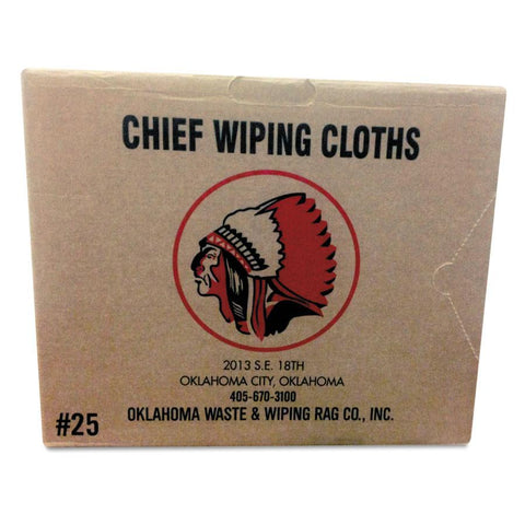 Oklahoma Waste White Knit T-Shirt Cotton Wiping Rags (25lb box)-ShopWeldingSupplies.com