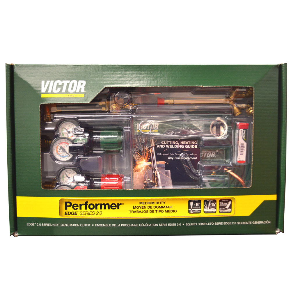 Victor Performer Medium Duty Cutting Torch Kit - (0384-2125) - 540/510 EDGE 2.0 - Limited Time Special Price!-ShopWeldingSupplies.com