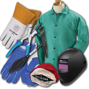 Premium Welding Student Kit with Auto-Darkening Helmet/Hood (8 piece kit)-ShopWeldingSupplies.com