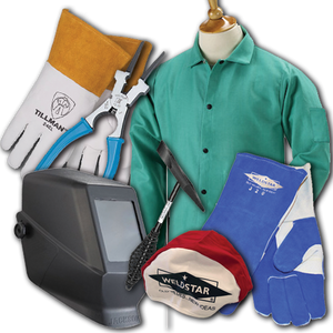 Starter Welding Student Kit with Passive Welding Helmet/Hood (8 piece kit)-ShopWeldingSupplies.com