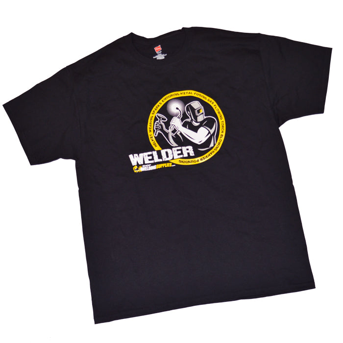Short Sleeve Welder Cotton T-Shirt (ShopWeldingSupplies.com)-ShopWeldingSupplies.com