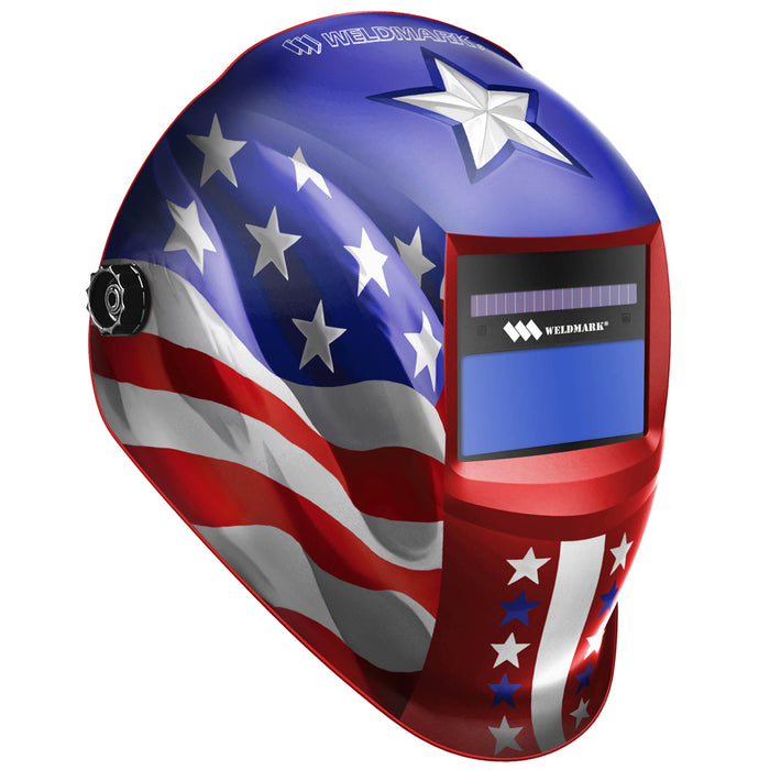 Weldmark Stars and Stripes Auto-Darkening Welding Hood (SS8VS9-13H)