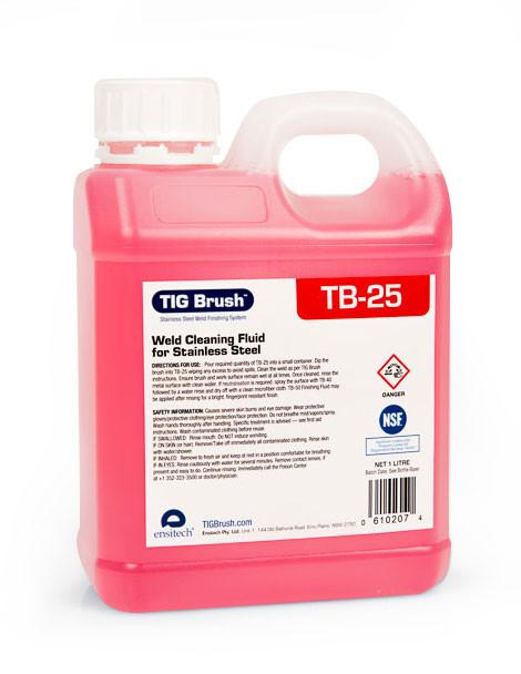 Ensitech TIG Brush TB-25 Premium Weld Cleaning Fluid (Quart and Gallon Avail.)