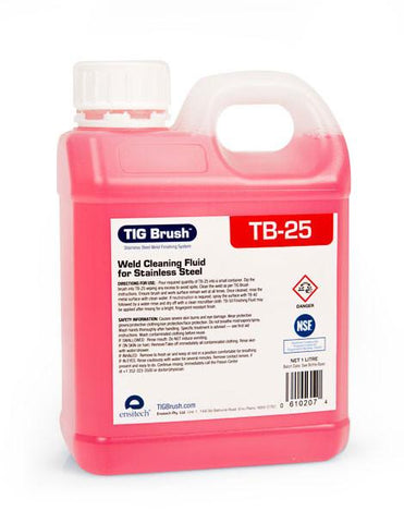 Ensitech TIG Brush TB-25 Premium Weld Cleaning Fluid (Quart and Gallon Avail.)-ShopWeldingSupplies.com