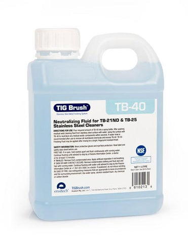 Ensitech TIG Brush TB-40 Neutralizing Fluid (Quart and Gallon Avail.) DISCONTINUED-ShopWeldingSupplies.com