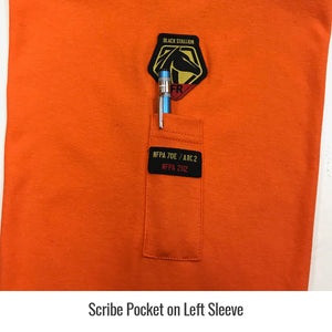 Revco (Black Stallion) Flame Resistant Long Sleeve T-Shirt (Orange)-ShopWeldingSupplies.com