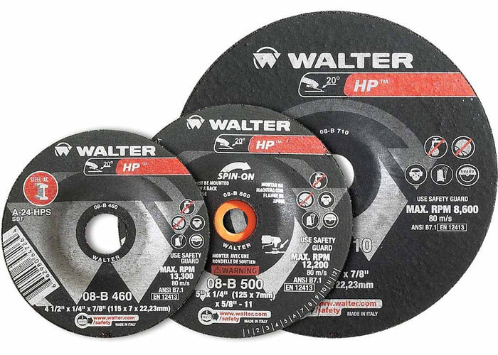 "Walter 08-B 450 HP™ 4-1/2""x1/4""x5/8"" 11 Thread Grinding Wheel"