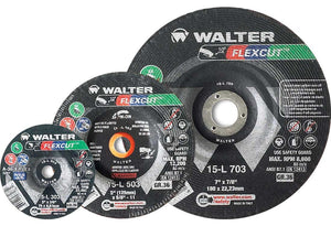 "Walter 15-L 456 Flexcut 4-1/2""x5/8""-11 Thread Grinding Wheel-ShopWeldingSupplies.com"