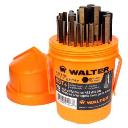 Walter (Genuine) 01E118 29-Piece Jobber Quickshank Drill Bit Set (For Metal, While Supplies Last!)