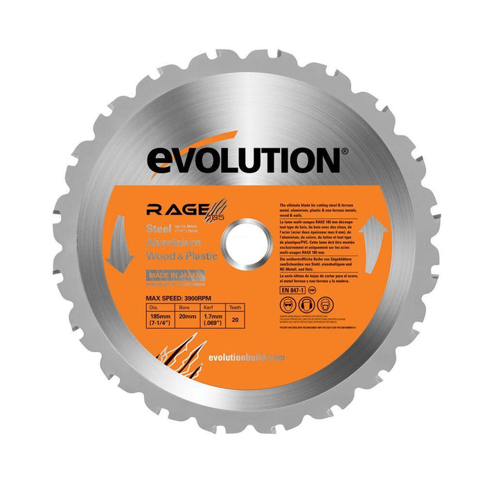 "Evolution RAGEBLADE 7-1/4"" Multipurpose Replacement Blade"