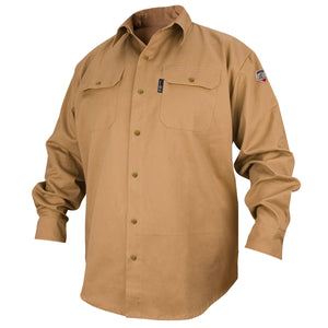 Revco Flame Resistant Cotton Work Shirt - FS7-KHK-ShopWeldingSupplies.com
