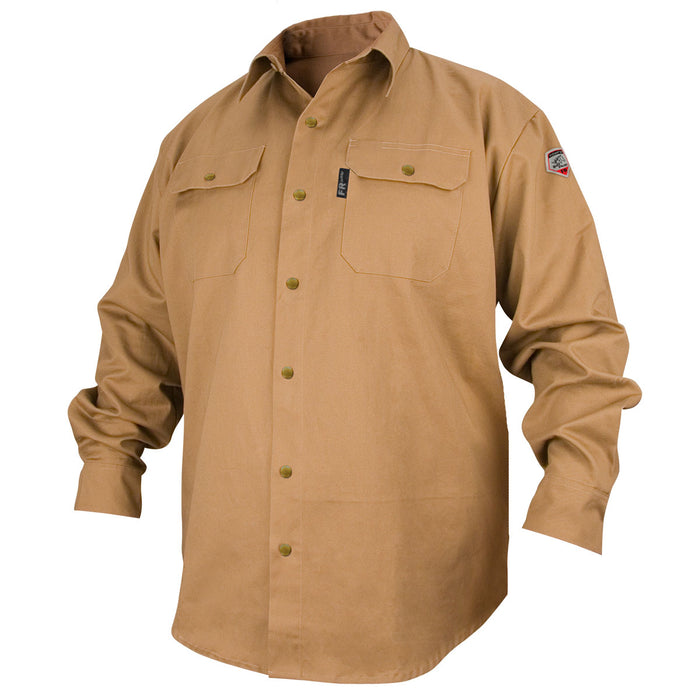 Revco Flame Resistant Cotton Work Shirt - FS7-KHK