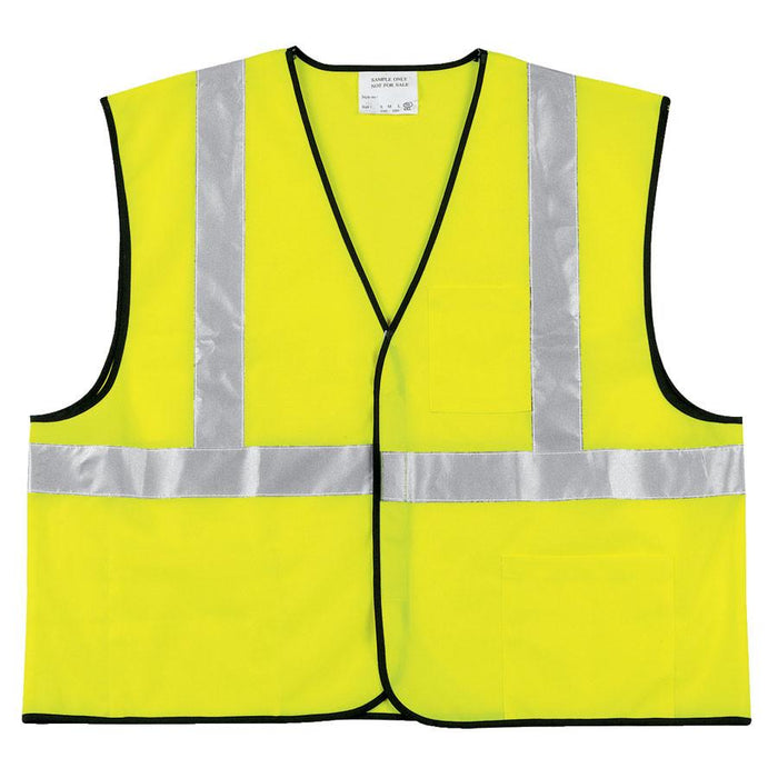 River City VCL2SL Class II Solid HI-VIS Yellow/Lime Economy Safety Vest