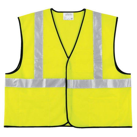 River City VCL2SL Class II Solid HI-VIS Yellow/Lime Economy Safety Vest-ShopWeldingSupplies.com
