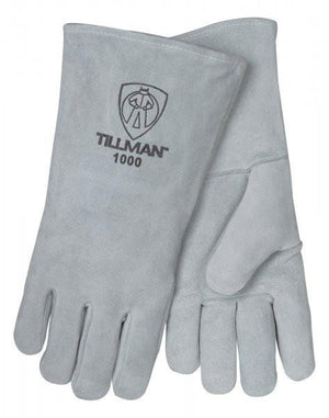 Tillman Welding Gloves: Gray Cowhide - Large-ShopWeldingSupplies.com