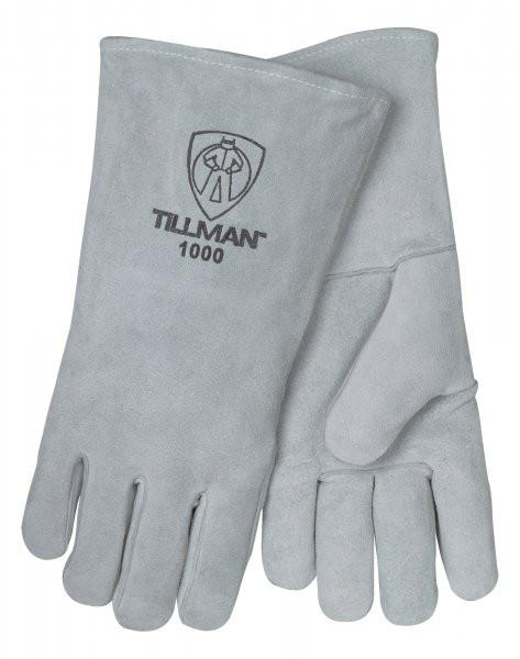 Tillman Welding Gloves: Gray Cowhide - Large