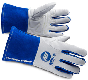 Miller 263347 Performance TIG Welding Gloves Blue/White-ShopWeldingSupplies.com