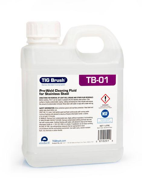 Ensitech TIG Brush TB-01 Pre-Weld Cleaning Fluid (Quart and Gallon Avail)