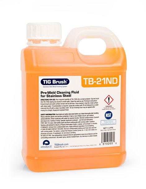 Ensitech TIG Brush TB-21ND Weld Cleaning Fluid  (Quart and Gallon Avail.)
