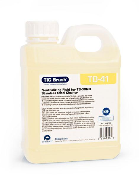 Ensitech TIG Brush TB-41 Neutralizing Fluid for TB-30ND (Quart or Gallon)-ShopWeldingSupplies.com