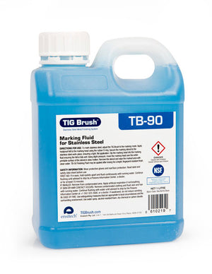 Ensitech TIG Brush TB-90 Marking Fluid for Stainless Steel (Quart)-ShopWeldingSupplies.com