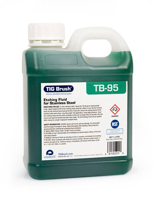 Ensitech TIG Brush TB-95 Etching Fluid (Quart)-ShopWeldingSupplies.com