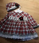 Miranda plaid tartan 2 piece dress set 0070