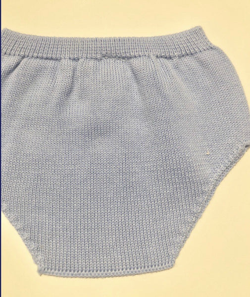 Babidu blue knitted bloomers 52264