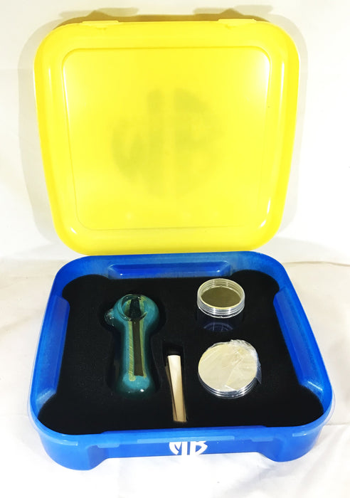 MARLIE BOX UPSCALE HERBAL ACCESSORY KITS MB PK SM BLUE AND YELLOW HERBAL  KIT