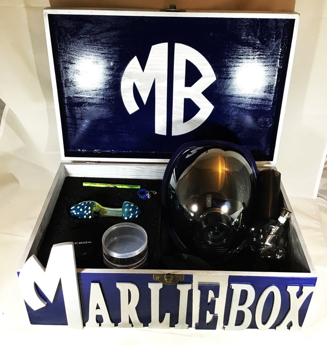 MARLIEBOX GAS MASK KIT MB Blue and Silver Special To Flight Edition Gas Mask Kit