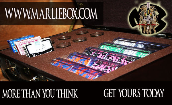 MARLIEBOX Shot Glass Accessory kit 1. MARLIEBOX GROWN MAN POKER KING EDITION BRIEFCASE