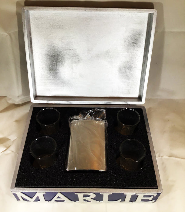 MARLIEBOX Shot Glass Accessory kit MB SHOT GLASS ACCESSORY KIT BLUE AND SILVER