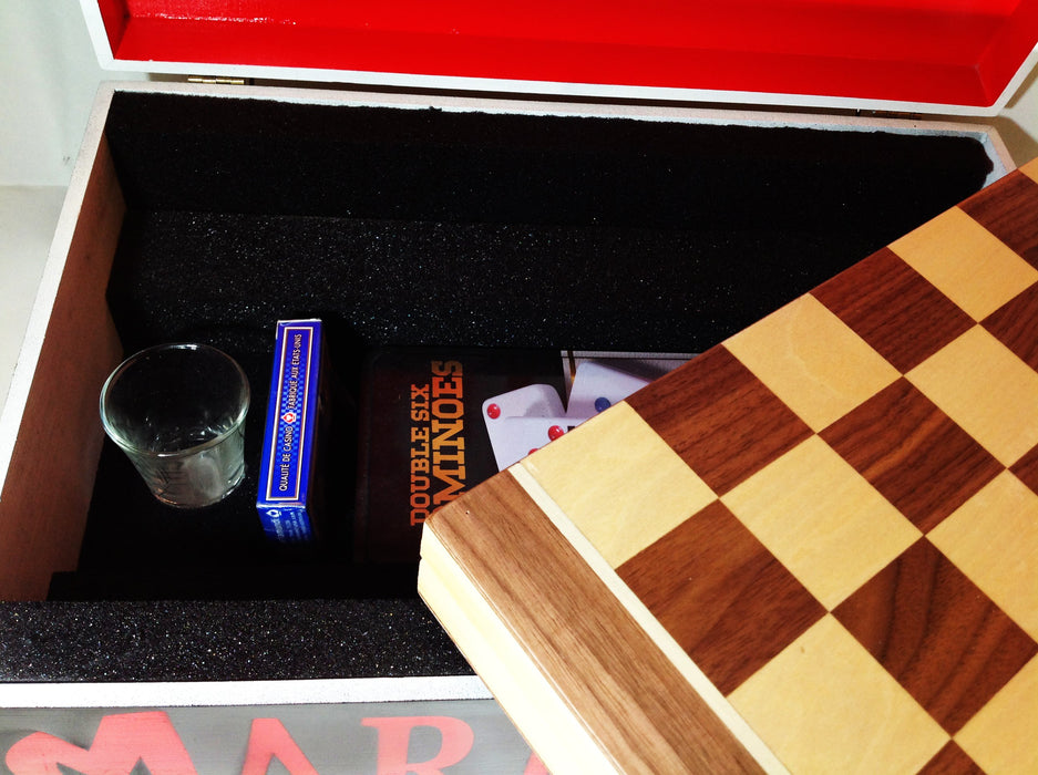 MARLIEBOX ELEV8 SERIES CHESS AND DOMINO KIT