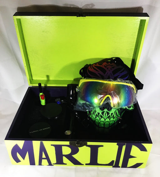 MARLIEBOX UPSCALE HERBAL ACCESSORY KITS Copy of MB RASTA KING GAS MASK HERBAL ACCESSORY KIT