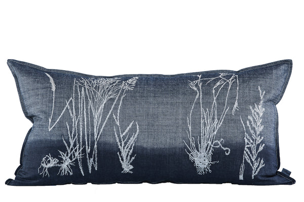 Denim Grasses, Dipped in Indigo