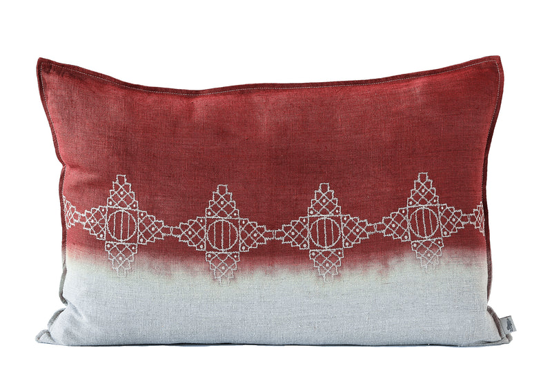 Embroidered Diamonds Cushion Stone on Stone