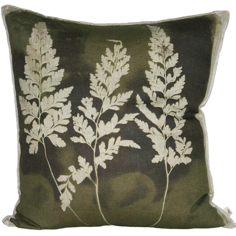 Fern 3 Asplenium Cushion, Printed