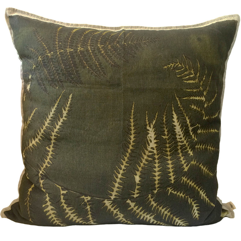 Fern 6 Thylepteris Cushion, Printed
