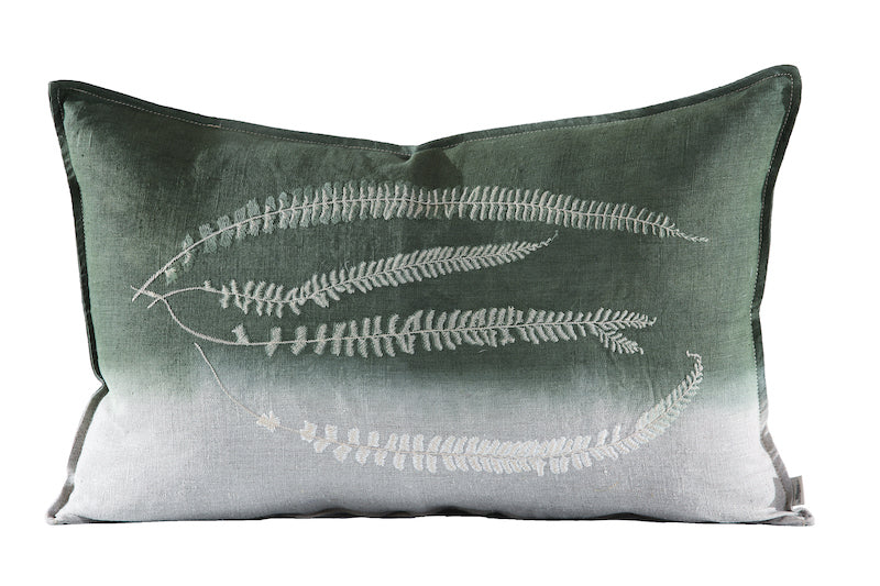 Fern 2 Asplenium Cushion, Embroidered