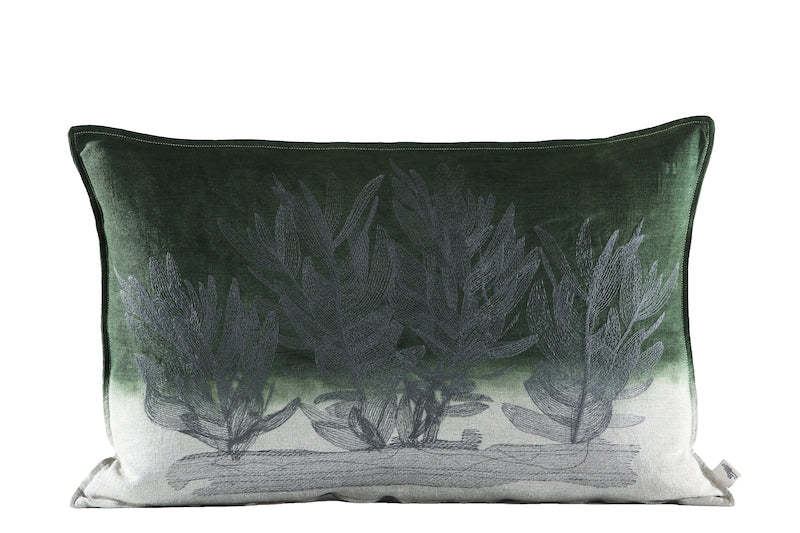 Protea Bos Cushion, Embroidered and Dyed