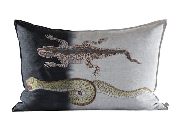 Snake Cushion, Embroidered
